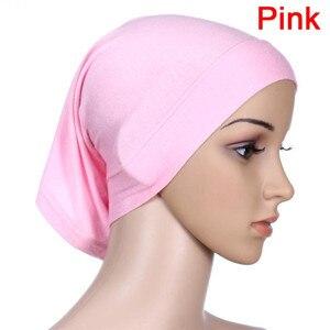 Image 5 - Musulmano Islamico Arabo Tubo Hijab Underscarf Velo Abito Abaya Interno Caps Cappelli di Cotone Mercerizzato Elastico Regolabile