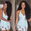 Zora Cabelo Humano 6A Cabelo Virgem Brasileira Encaracolado Tece Livre navio Brasileiro Kinky Curly Virgem Cabelo 3 pcs Afro Kinky Curly cabelo
