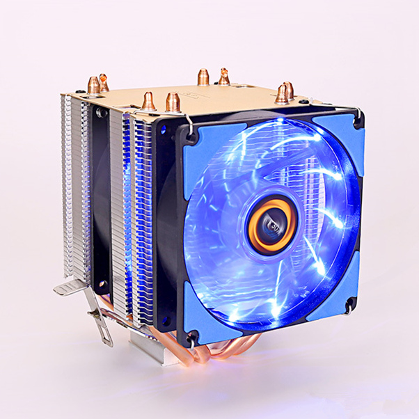 For Intel AMD 115x i3/i5/x4/x6 Computer CPU heatsink fins Silent cooling copper 4 Heat pipe 90mm fan radiator 4PIN