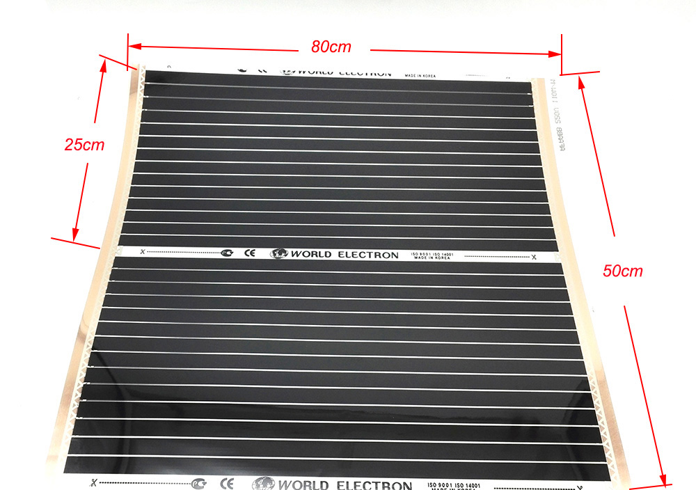 25CM X 80CM 50CM X 80CM Carbon Fiber Heating Film For Pet Waterloo Warm Floor