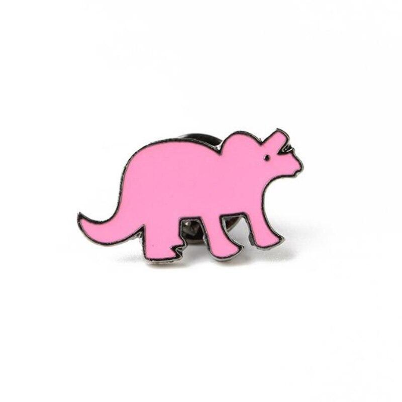 Мультяшная мини-брошь с динозавром на булавке, милые эмалированные заколки с животными, украшение для одежды, шляпы, металлический значок, броши для женщин и мальчиков - Цвет: 02