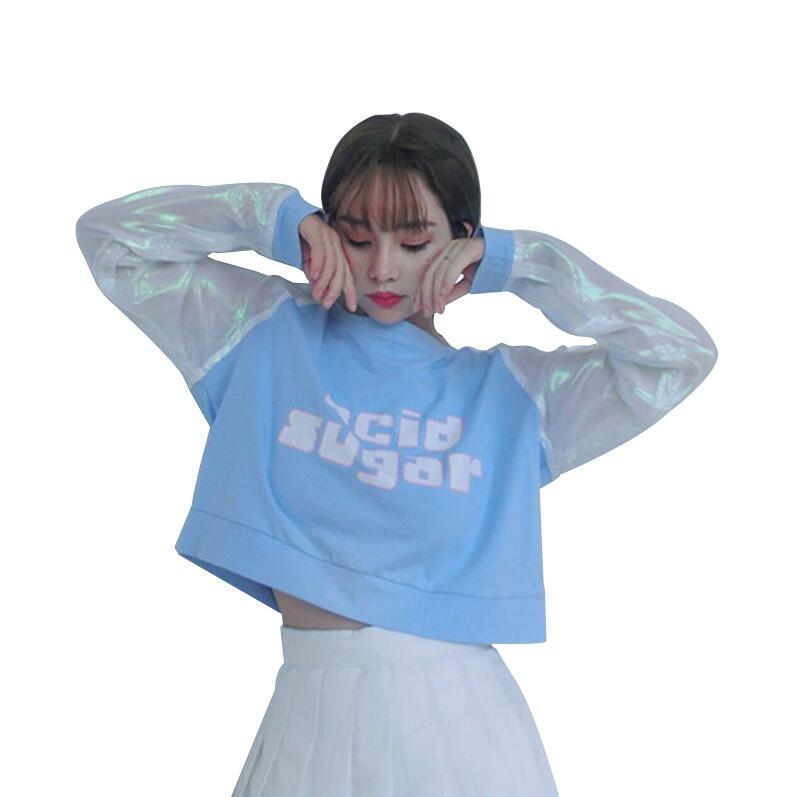 font b Laser b font Rainbow Long Sleeve T shirt
