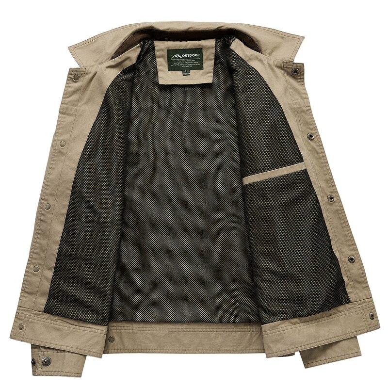 Homens jaqueta Moda Denim Homem Jaqueta seção Fina Plus Size Único Breasted Outerwear Ocasional Turn Down Collar Masculino Jackers - 3