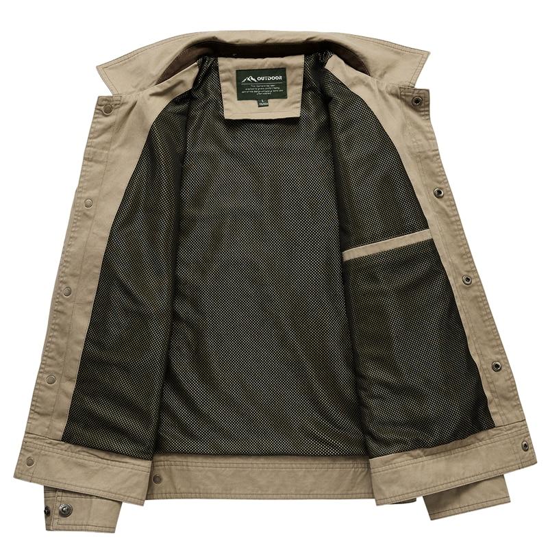 Jas Mannen Mode Denim Jasje Dunne gedeelte Plus Size Enkele Breasted Man Bovenkleding Casual Turn Down Kraag Mannelijke Jackers - 3