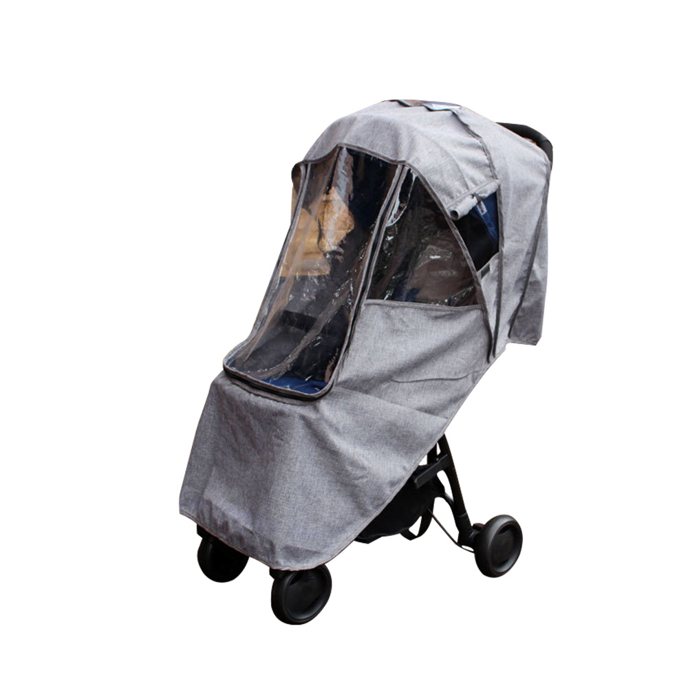 Baby Stroller Accessories Universal Rain Cover Waterproof Wind With Zipper Open For Baby Yoya Plus Babyzen Yoyo Pushchairs