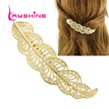 Kayshine New Hair Jewelry Fashion Accessories Gold Color Leaf Barrettes For Women High Quality Hairwear