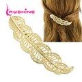 Kayshine nueva joyería del pelo accesorios de moda del color del oro de hoja hairwear barrettes para mujeres de la alta calidad