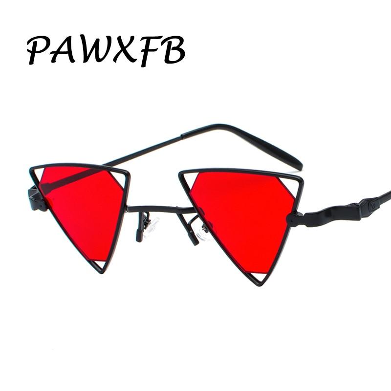 Pop Age 2018 Newest Triang Steampunk Sunglasses Women Men Mirror Hollow Cat Eye Sun glasses Vintage Deep Red Oculos de sol 400UV