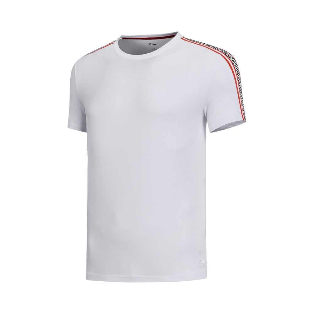 (Break Code) li-Ning Mannen De Trend T-shirts 100% Katoen Ademend Korte Mouw Voering Li Ning Sport Tee Tops AHSN523 MTS2902