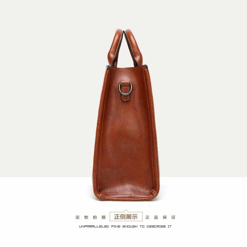 KLY 100% Genuína Mulheres de couro bolsas de 2019 Novas bolsas Cross-border bens Simples bolsa Ms. Briefcase Ombro Messenger