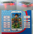 English PATROL dog Figures Educational Learning Mobile Phone Kids Baby Toy,learning music and story  toy mobile with light