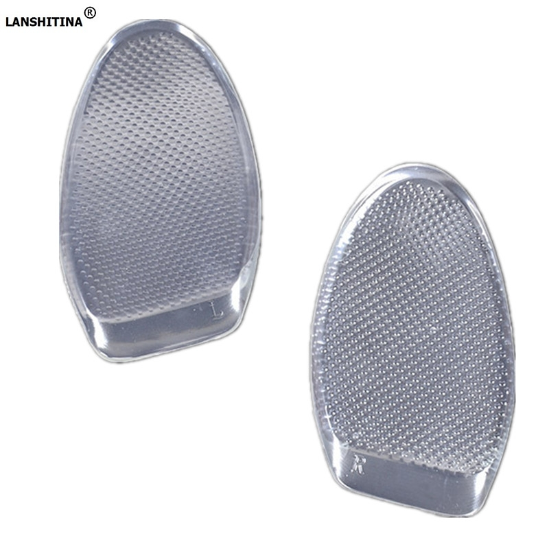 2017 Transparent Silicone Shoe Insoles Semi Insole Regulating Anti Foot Ultra Thick Soft Shoes Soles Silicone Gel Foot Pad expfoot orthotic arch support shoe pad orthopedic insoles pu insoles for shoes breathable foot pads massage sport insole 045