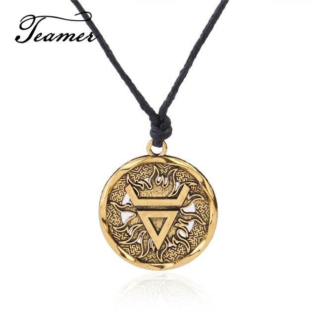Teamer Silver Color Veles Symbol Weles Slavic Wealth Talisman