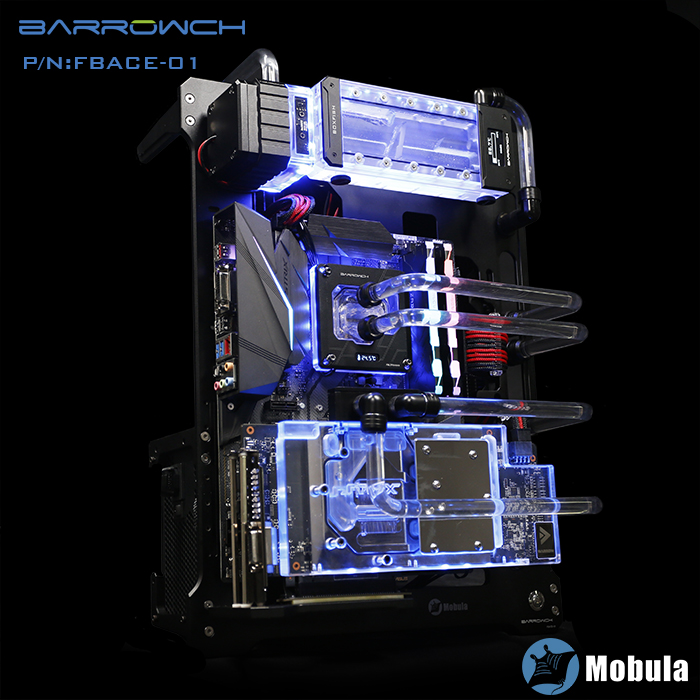 Купить с кэшбэком Barrowch silver Mobula modular computer case verticle compatible E-ATX/ATX/M-ATX/ITX MINI DESIGN Aluminum material gpu block