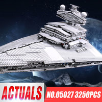 New LEPIN 05027 3250Pcs Star Wars Imperial Star Destroyer Model Building Kit Blocks Bricks Educational Compatible