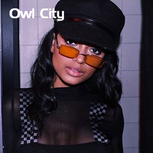 3d2c910dc686 2018 Vintage Sunglasses Women Men Rectangle Glasses Brand Designer Small  Retro Shades Yellow Pink Sunnies sunglasses-women