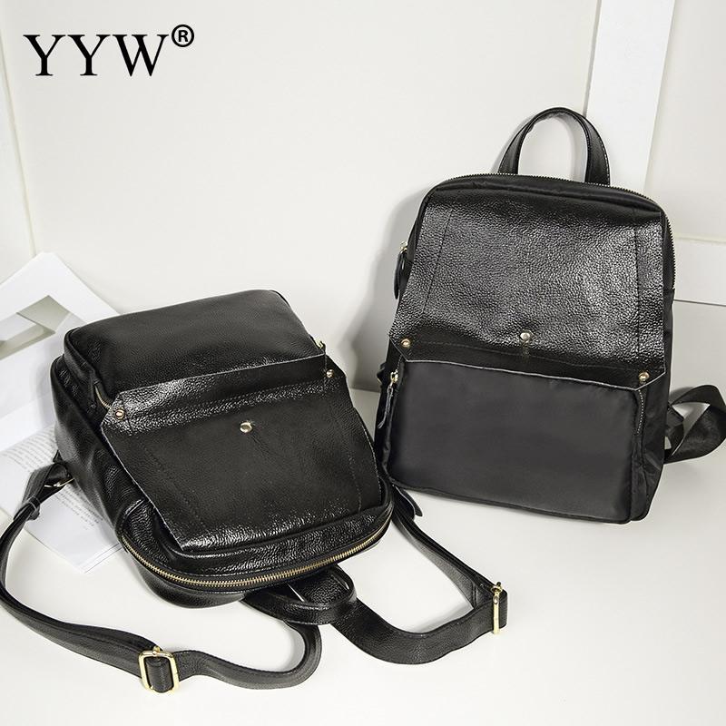 Casual Women Backpack Female Softback Pu Oxford Sac A Main School Bag Backpacks Solid Notebook Designer Mochila Travel Backbags