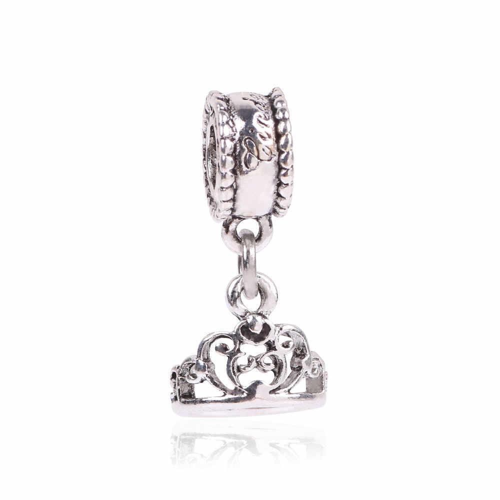 ธรรมชาติสัตว์ดอกไม้ 925 Silver Charms Vintage จี้ Fit สร้อยข้อมือ Pandora และกำไลข้อมือ Forever my heart แฟชั่นเครื่องประดับ