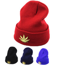Autumn Winter Unisex warm knit hat Men ladies Flanging Skullies Beanies