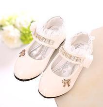 Filles PU chaussures en cuir automne chaussures de soirée pour les filles fleur de mariage enfants seul étudiant fleur princesse bébé chaussures 988