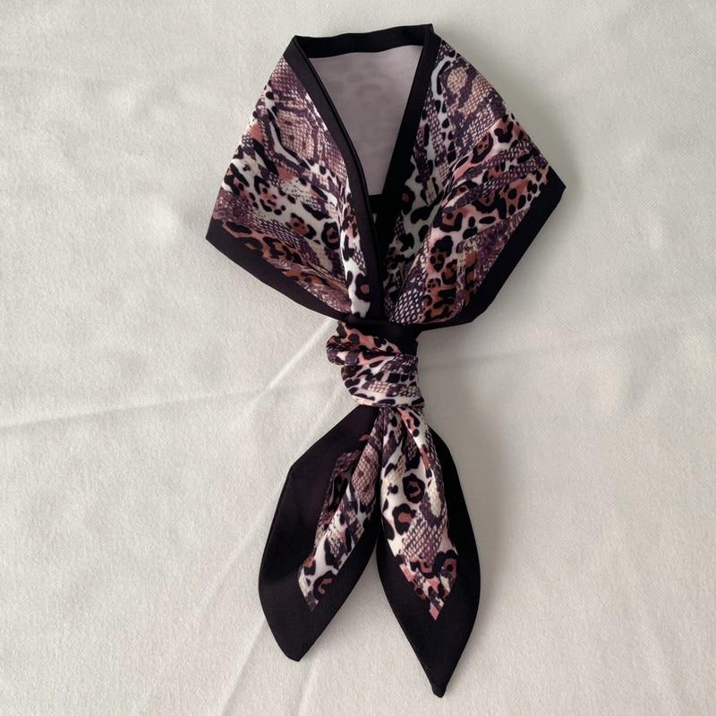 Snake skin pattern   scarf   women small silk Scarfs Handle Bag Ribbon Female Head   Scarves     Wrap   For Lady 90*10cm neckerchief