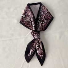 Snake skin pattern scarf women small silk Scarfs Handle Bag Ribbon Female Head