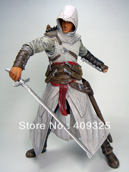 Best selling!! High Quality Assassin Creed Altair Player PVC Action Figures Toy Free shipping 1pcs