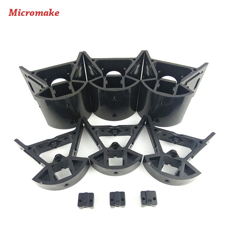 Micromake Kossel Frame Delta 3D Printer Parts Plastic Injection Parts Top/Bottom Vertax Set Injection Molding Frame Connectors