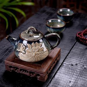 Image 2 - Keramik Teekanne Porzellan Kung Fu Tee Set Teekannen Wasserkocher Chinesischen Stil Tee Topf Home Restaurant Hotel Wasser Krug Krug Teegeschirr