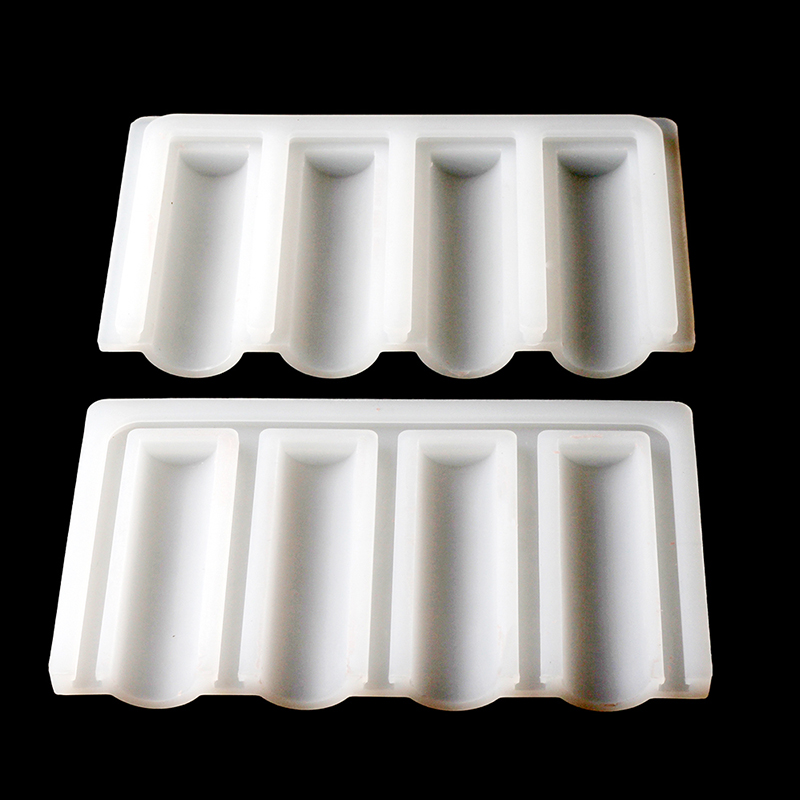 Nicole Tube Silicone Soap Mold 4 Cavity Cylindrical Mould for DIY Handmade Crystal Glue Mould Random Color in Soap Molds from Home Garden