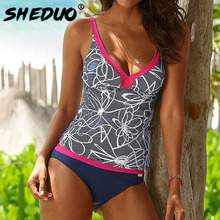 Купить с кэшбэком SD1692 SHEDUO 2016 Latest Sexy Solid Swimwear Bandage Design Push Up Detachable Bra Women's Swimsuit