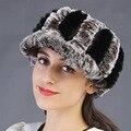 women genuine rex rabbit fur hat autumn winter super warm muffs luxury fur hair band ribbon belt