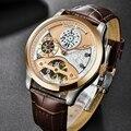 Мужские автоматические механические наручные часы PAGANI  модные роскошные дизайнерские мужские часы  водонепроницаемые часы с кожаным ремеш...