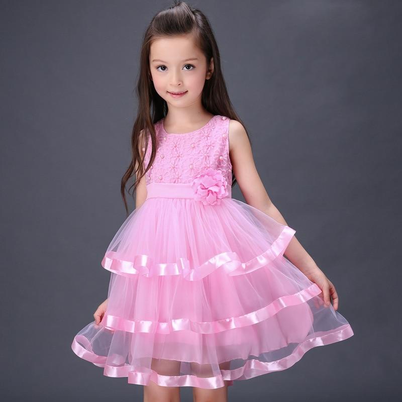 The child selling 2016 new summer girl dress new girl children festival dance Chiffon Cake whosale