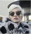Retro Cat Eye Sunglasses Fashion Round Sunglasses Women Design Cat Eye Sun Glasses For Women Oculos De Sol Gafas