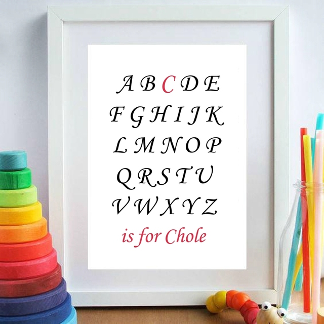 Aliexpress.com : Buy Custom Alphabet Baby Girl Name Canvas Art Print ...
