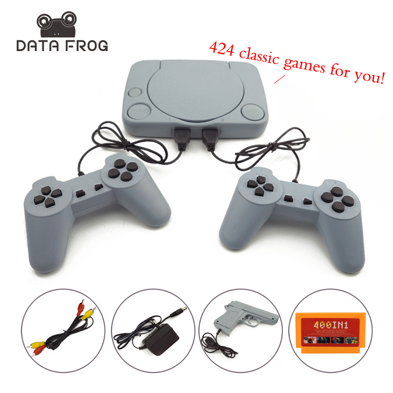 8 Bit Classic Video Game Console With 424 Games Support AV Out Put Family TV Video Game With Dual Controller waugh e put out more flags