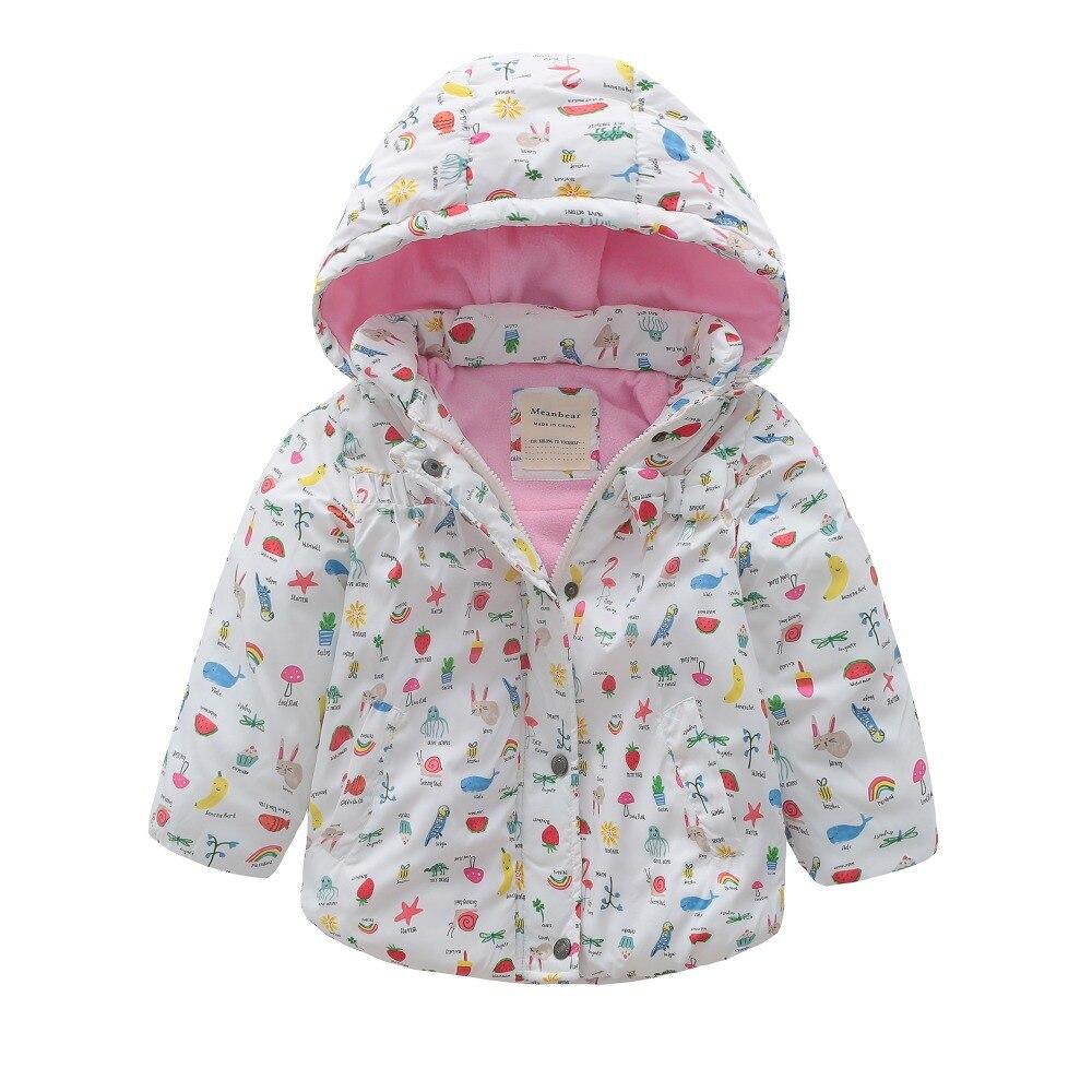 все цены на M120 Winter Child Thicken Warm Padded Lining Jacket Print Hooded Boys Parka Coats Kids Tops Spring Autumn Outwear Girls Jacket