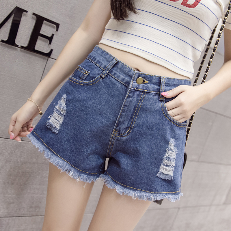 2019 summer New Hot fashion Denim Shorts Women's S-7XL Large size Summer Jeans female loose denim shorts hot