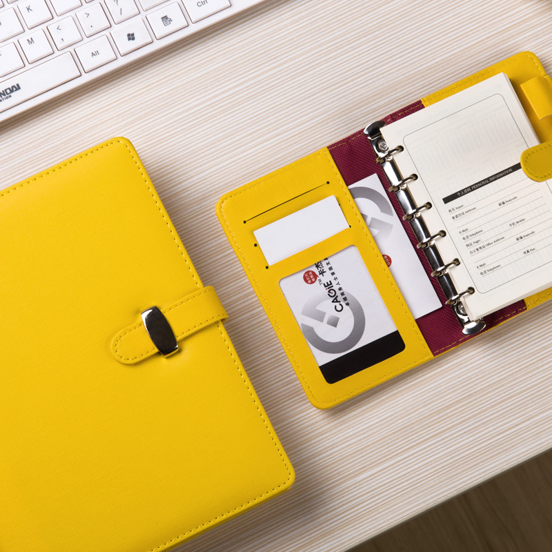 Student stationery cute business notebook PU leather spiral notebook hardcover Korea diarybook diary spiral notebooks for school ж лтая зел ная красная копировальная бумага купить