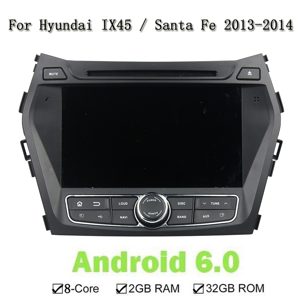 ROM 32G RAM 2G HD 1024*600 Screen 8 Core Android 6.0.1 Fit Hyundai Car DVD Player GPS 3G 4G Radio Steering Wheel Control