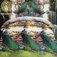 메두사 3d 공작 반응성 인쇄 퀸 사이즈 침구 세트 이불 커버 침대 시트 베개