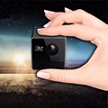 2016 Novos Mini Pico Projector LED Full HD 1080 P 3D projetor home theater Portátil Apoio TF/USB vídeo reprodução DLP proyector