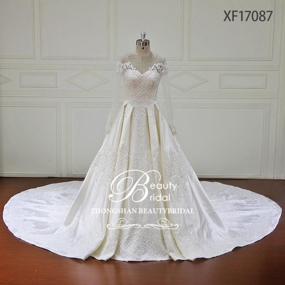 New Vintage Princess Ball Gown Wedding Dresses Beaded: Aliexpress.com : Buy Vestido De Noiva Long Sleeve Princess