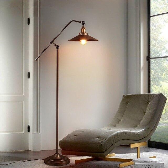 Loft Vintage Industrielle Table Lumière Edison Lampe Long bras de Bureau Loft Industriel Lampadaire pour Café Bar Chambre Décor À La Maison