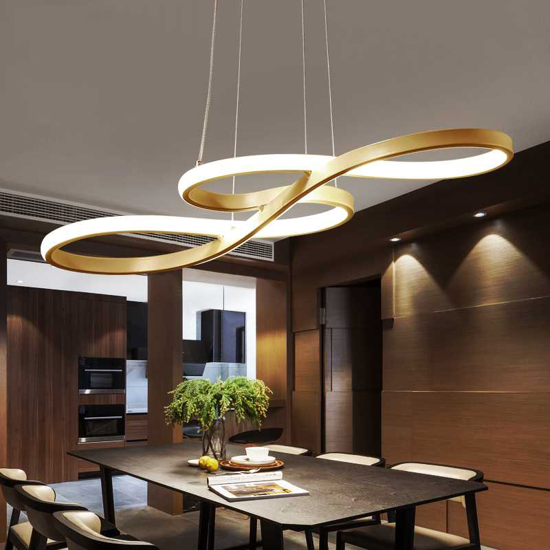 Art and Design Shaped Concise Modern LED Lamps Living Room Pendant Lamp Clothing Store Bar Creative