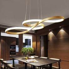 Sanat ve tasarım şekilli muhtasar Modern LED lambalar oturma odası kolye lamba giyim mağazası Bar yaratıcı yemek odası LED avize