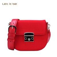 Let It Be Women S Wide Strap Crossbody Bags Waterproof Oxford Nylon Small Messenger Bags Cute