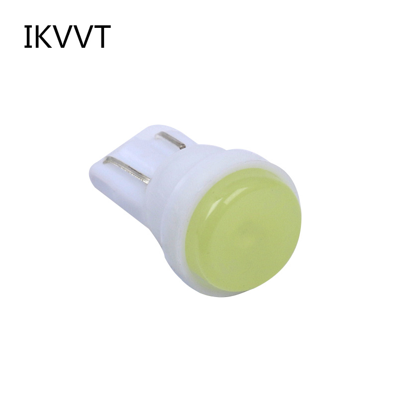 10Pcs Car style Interior LED T10 COB W5W 168 Wedge Door Instrument Side Bulb Lamp Car Light White/Blue/Green/Red/Yellow Source 10pcs ceramic car interior led t10 cob w5w 168 wedge door instrument side bulb lamp car light white blue green red yellow source