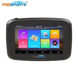 Fodsports-GPS étanche pour moto   RAM de 1G ROM 16G, Android 6.0, IPX7, moniteur GPS, WIFI, Bluetooth, navigateur de voiture, cartes gratuites